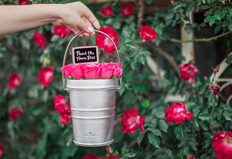 Kate Spade Rose Pail bag