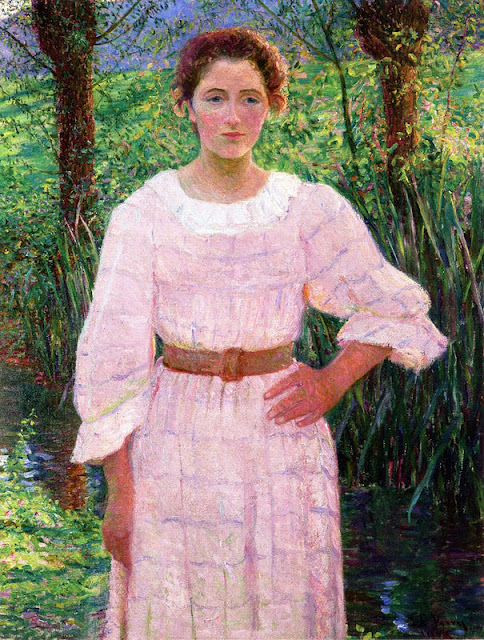 Lilla Cabot Perry - By the Brook, Giverny