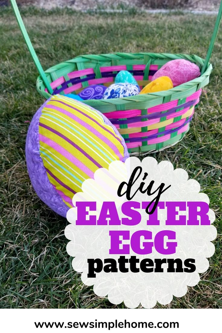 Simple Fabric Easter Egg Tutorial Free Pattern Sew Simple Home