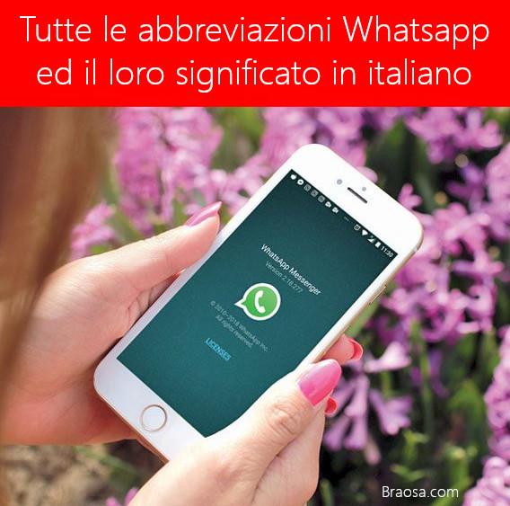 Le abbreviazioni Whatsapp ed il loro significato in italiano