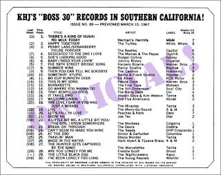 KHJ Boss 30 No. 89 - March 15, 1967