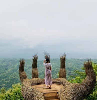 foto instagrammable hutan pinus pengger