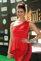 Meenakshi Dixit in Red One Shoulder Red Zipped up gown at IIFA Utsavam Award 42.JPG