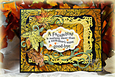 Stamps - Our Daily Bread Designs Autumn Blessings, Leaves Background, ODBD Custom Fall Leaves and Acorn Die, ODBD Custom Fancy Foliage Die, ODBD Custom Antique Labels and Border Dies