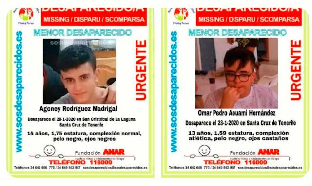 Buscan a dos menores desaparecidos en Tenerife