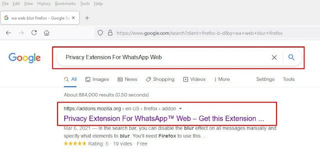 Tutorial Cara Blur Chat Di WhatsApp Web (Mozilla Firefox)