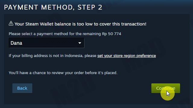 DANA sebagai metode pembayaran