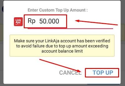 Nominal Topup LinkAja