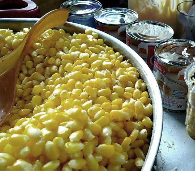 Makanan Jagung - Pembuatan Blendung Jagung Tradisional