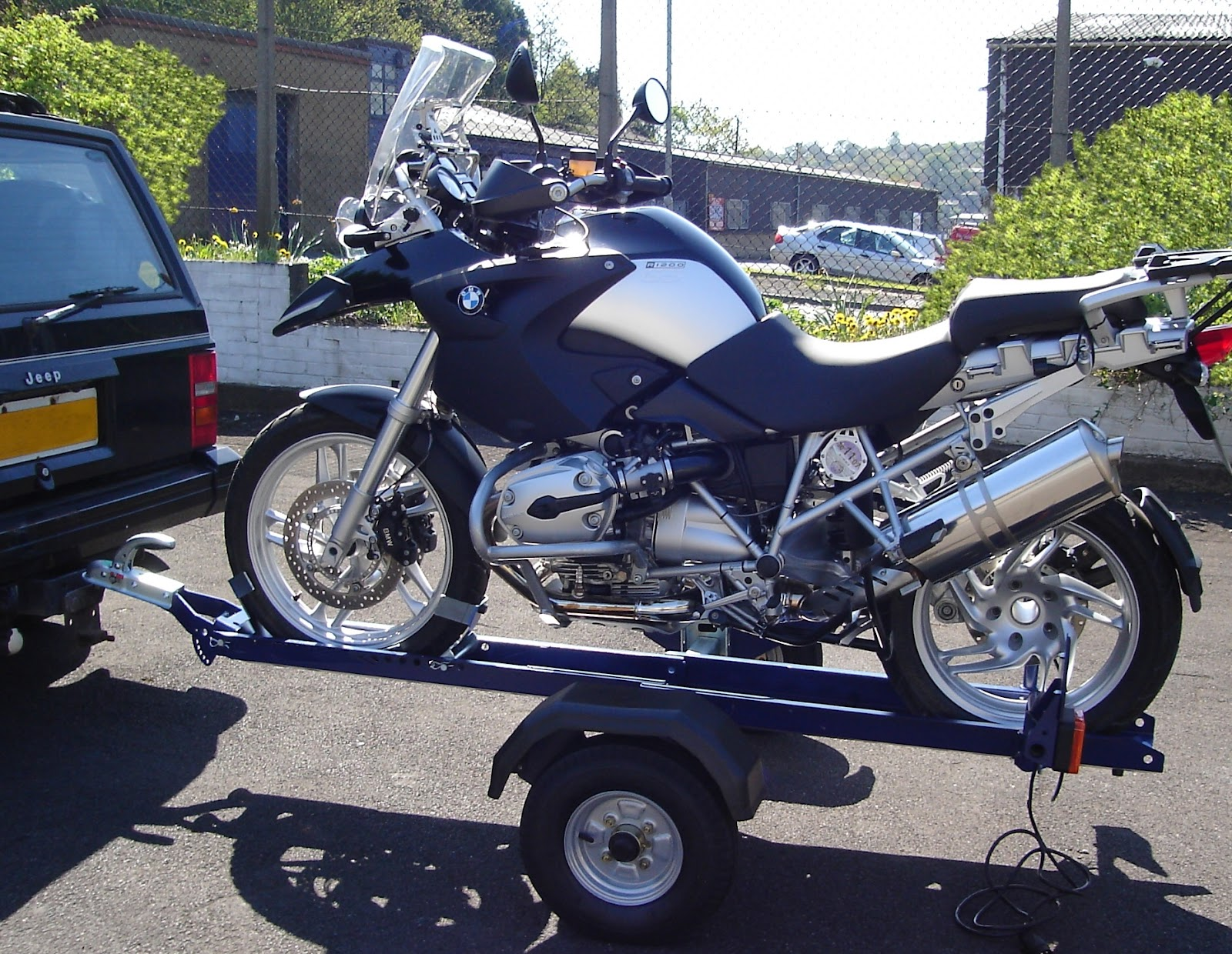 trailer motorcycle trailers bike motorcycles hitch scooter hauler dd latter means way