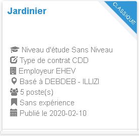 Jardinier Employeur : EHEV