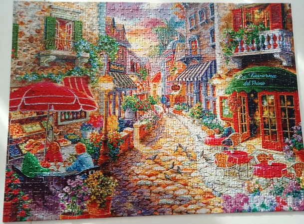 jigsaw - 1,000 pieces and trickier than it looked!