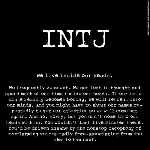 Personality types dating intj women