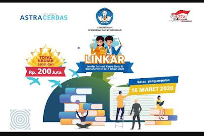 Ikutilah Lomba Inovasi Karya Guru Total Hadiah 200 Juta