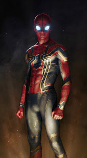 Iron Spider Armor Avengers Infinity War Mobile HD Wallpaper