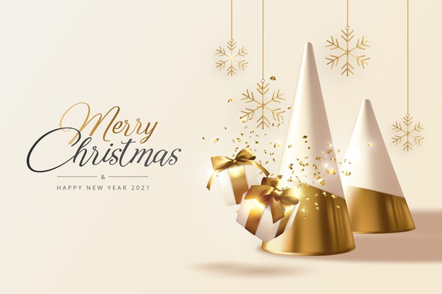 christmas-new-year-greeting-card-with-Christmas-trees-gifts-snowflakes