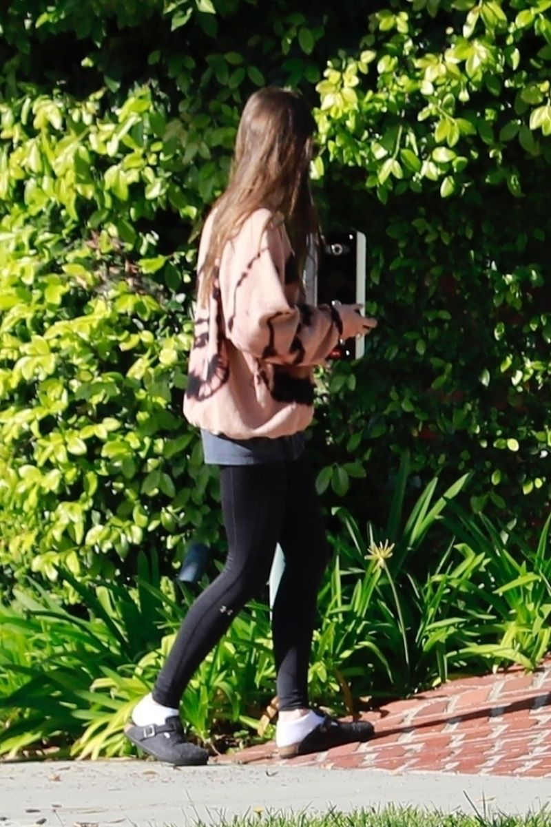 Lily Collins Clicked Outside in Beverly Hills 7 Apr -2020