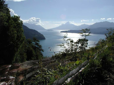 View of Todos los Santos Lake, Chile.