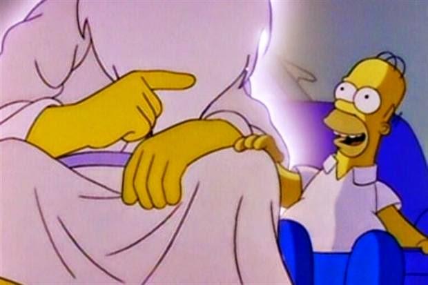 Homero hablando con  Dios