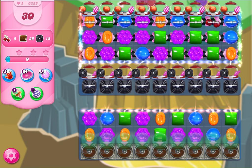 Candy Crush Saga level 6232