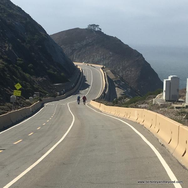 undulating scenic stretch on Devil's Slide Trail in Pacifica, California