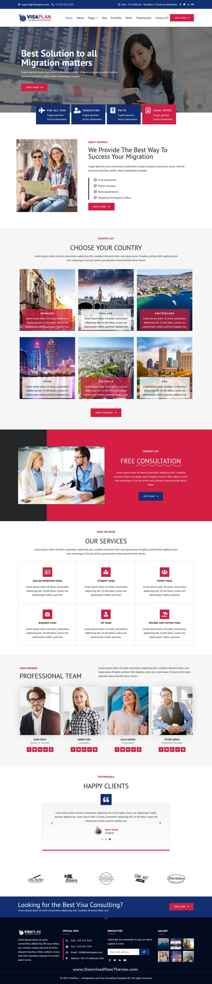 Immigration and Visa Consulting Agency Website Theme