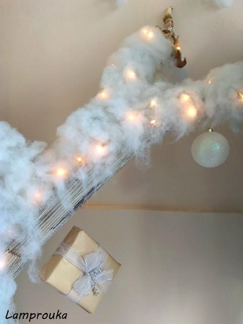 Χριστουνεννιάτικη διακόσμηση βιτρίνας.
