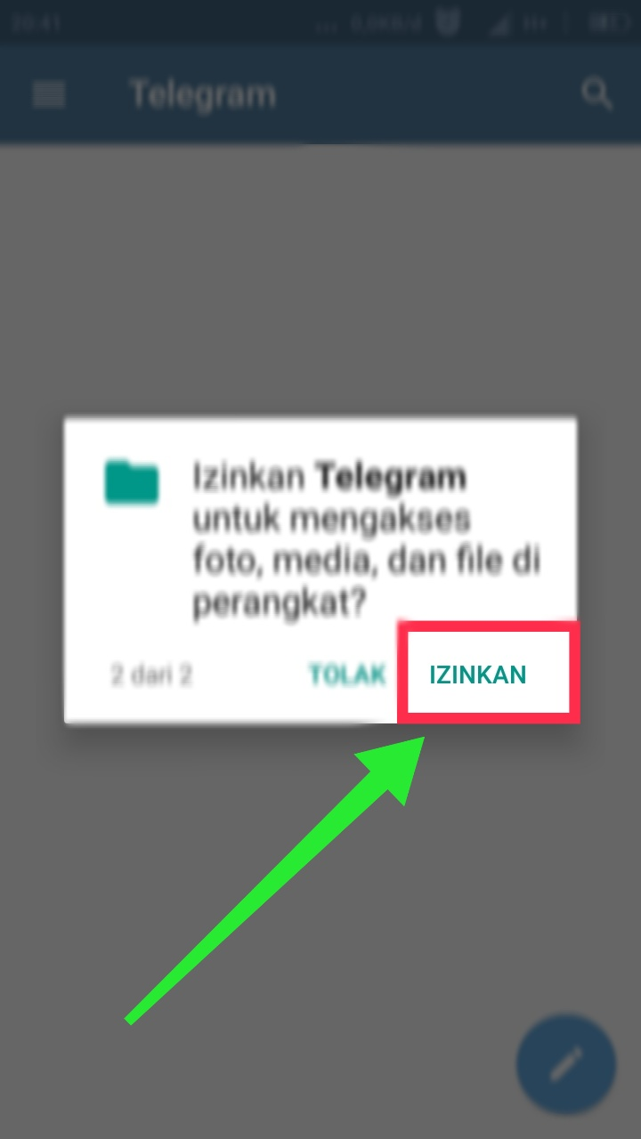 Membuat telegram