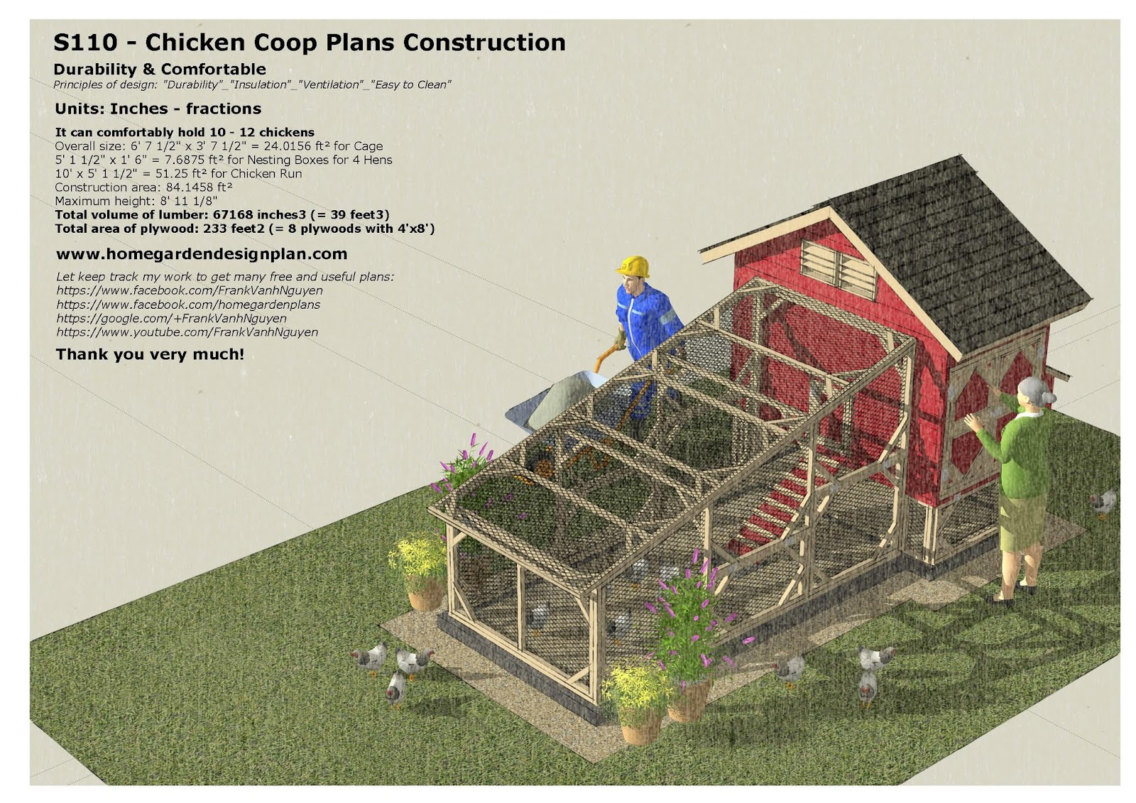 Home garden plans s110 chicken coop plans chicken for Xd garden design