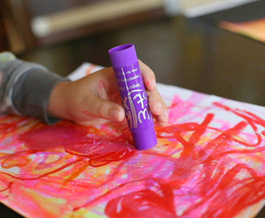Sunset Art with Kwik Stix (our favorite new art supply!)
