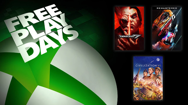civilization 6 need for speed hot pursuit remastered tekken 7 xbox live gold free play days event