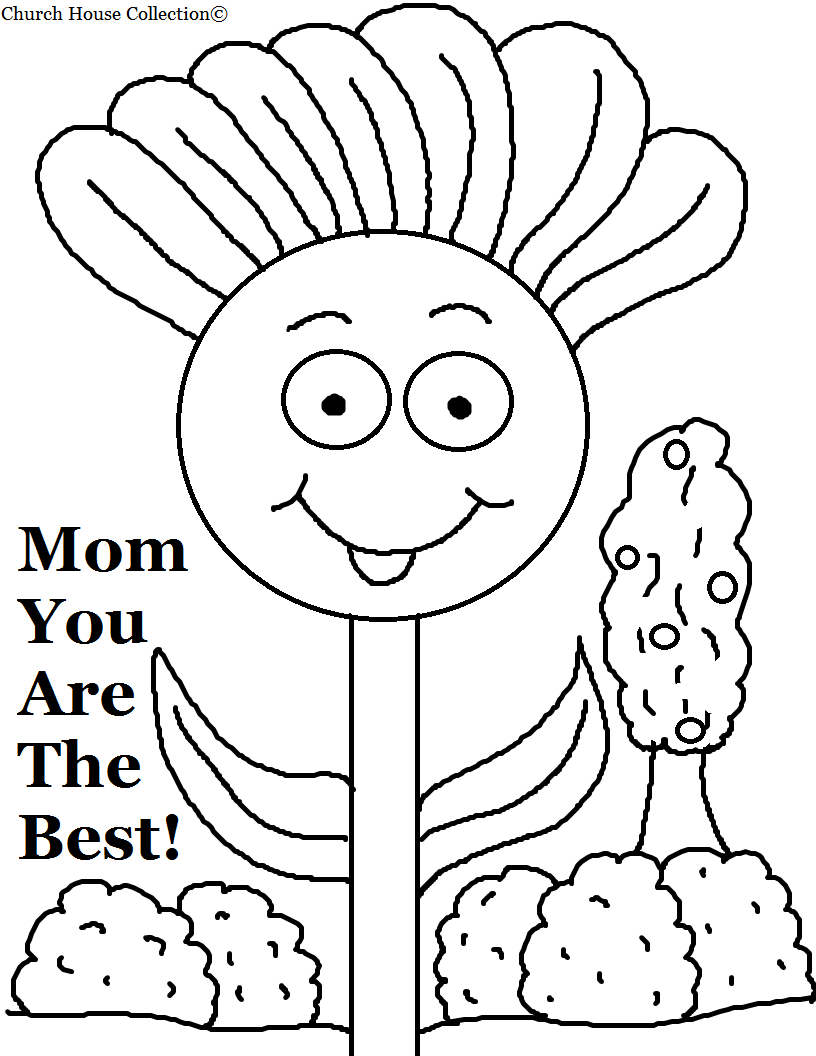 coloring pages of flowers for mom |