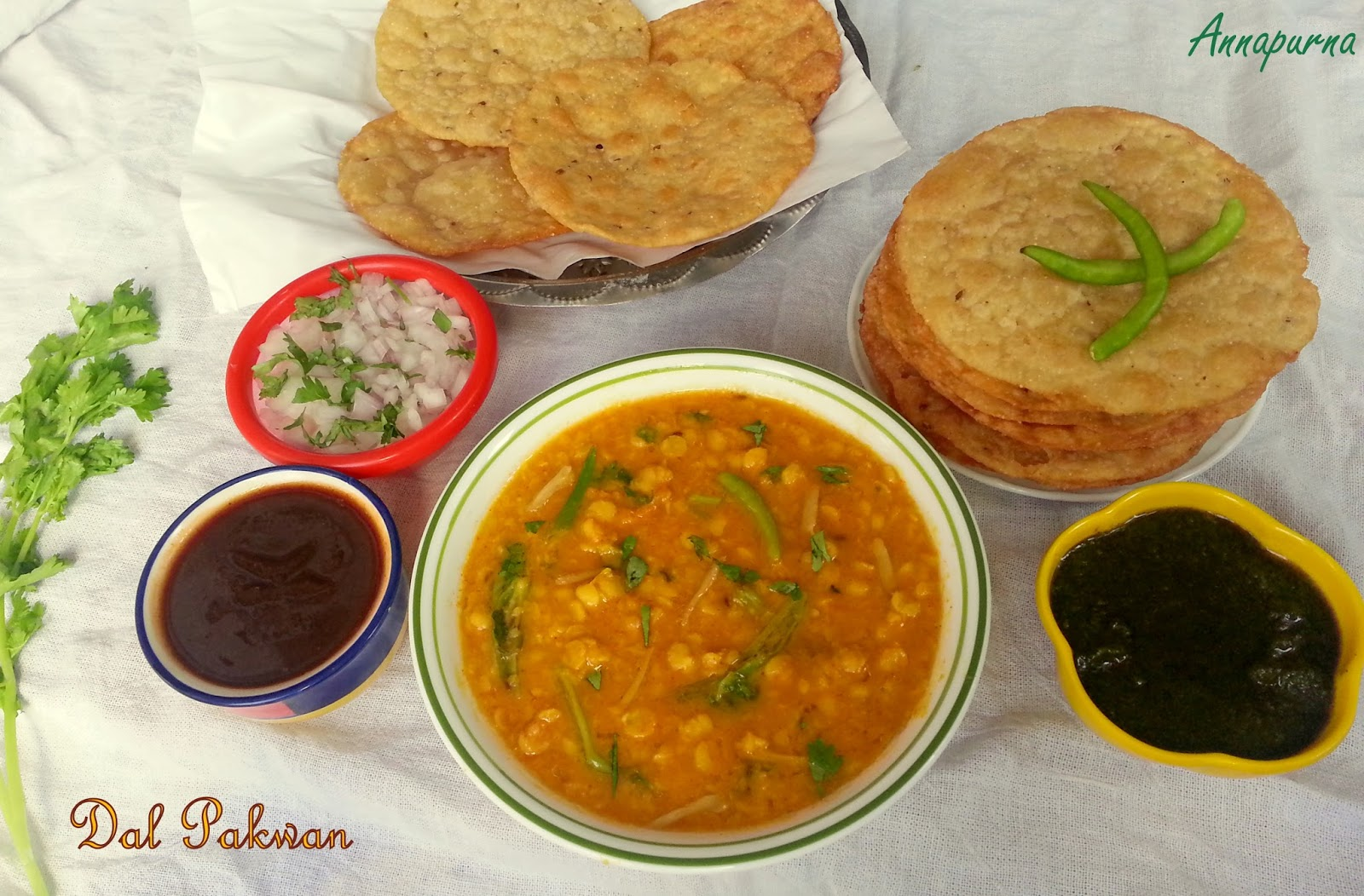 Annapurna dal pakwan sindhi breakfast recipe for Annapurna indian cuisine