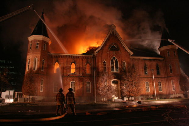 Here Is The History Behind This Burned Down Tabernacle. This Provo Meeting  House ...