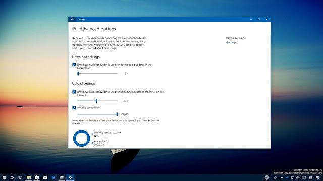 Windows 10 Güncellemeler İçin İndirme Limiti Ayarlayın