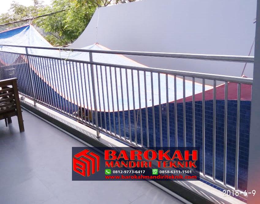 Pagar Balkon Stainless Minimalis Barokah Mandiri Teknik I Info 081297736417