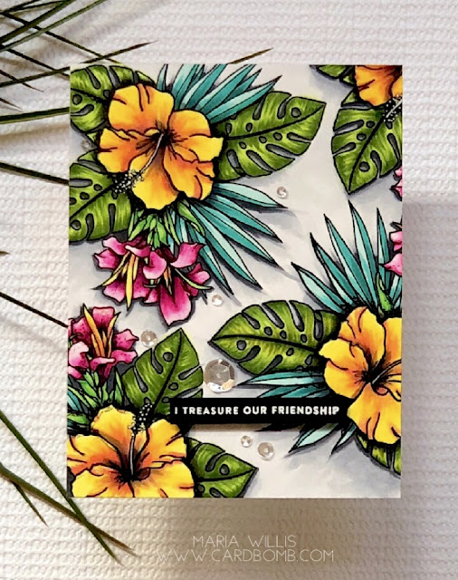 #mariawillis, #cardbomb, #cards, #cardmaking, #handmade, #handmadecards, #wplus9, #flowers, #copicmarkers, #copics, #color, #art, #stamp, #ink, #paper, #papercrafting