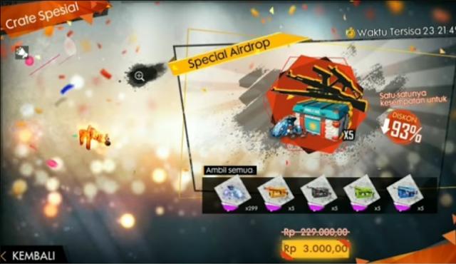 Trik Mendapatkan Special Airdrop 3000 Free Fire