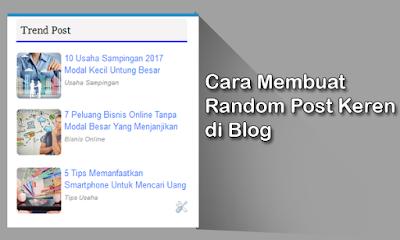 Cara Membuat Random Post Bergambar di Blog