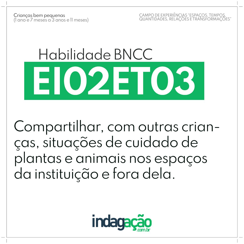 Habilidade EI02ET03 BNCC