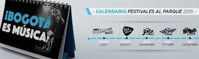 CALENDARIO 2018 Festivales al Parque Bogotá