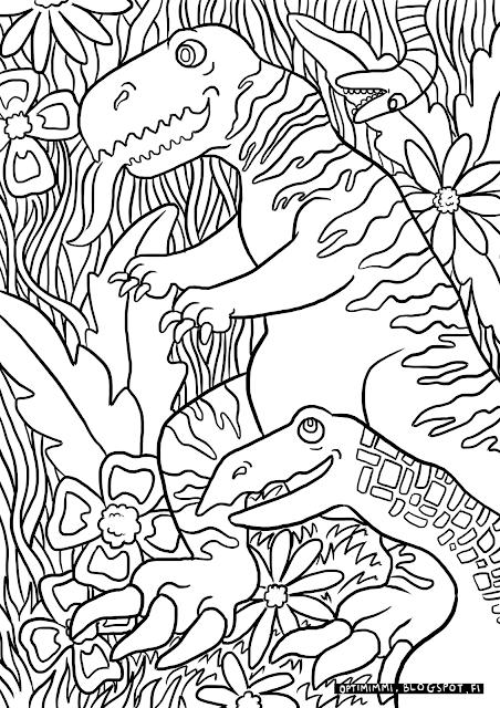 OPTIMIMMI: Dinosaurs (a coloring page) / Dinot (värityskuva)