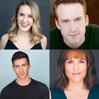 Ali Funkhouser (Elle), Jim Hogan (Emmett), Emily Koch (Vivienne), and Andrew Scott Holmes (Warner)