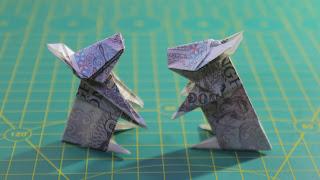 Hướng dẫn cách gấp con thỏ tiền giấy đơn giản