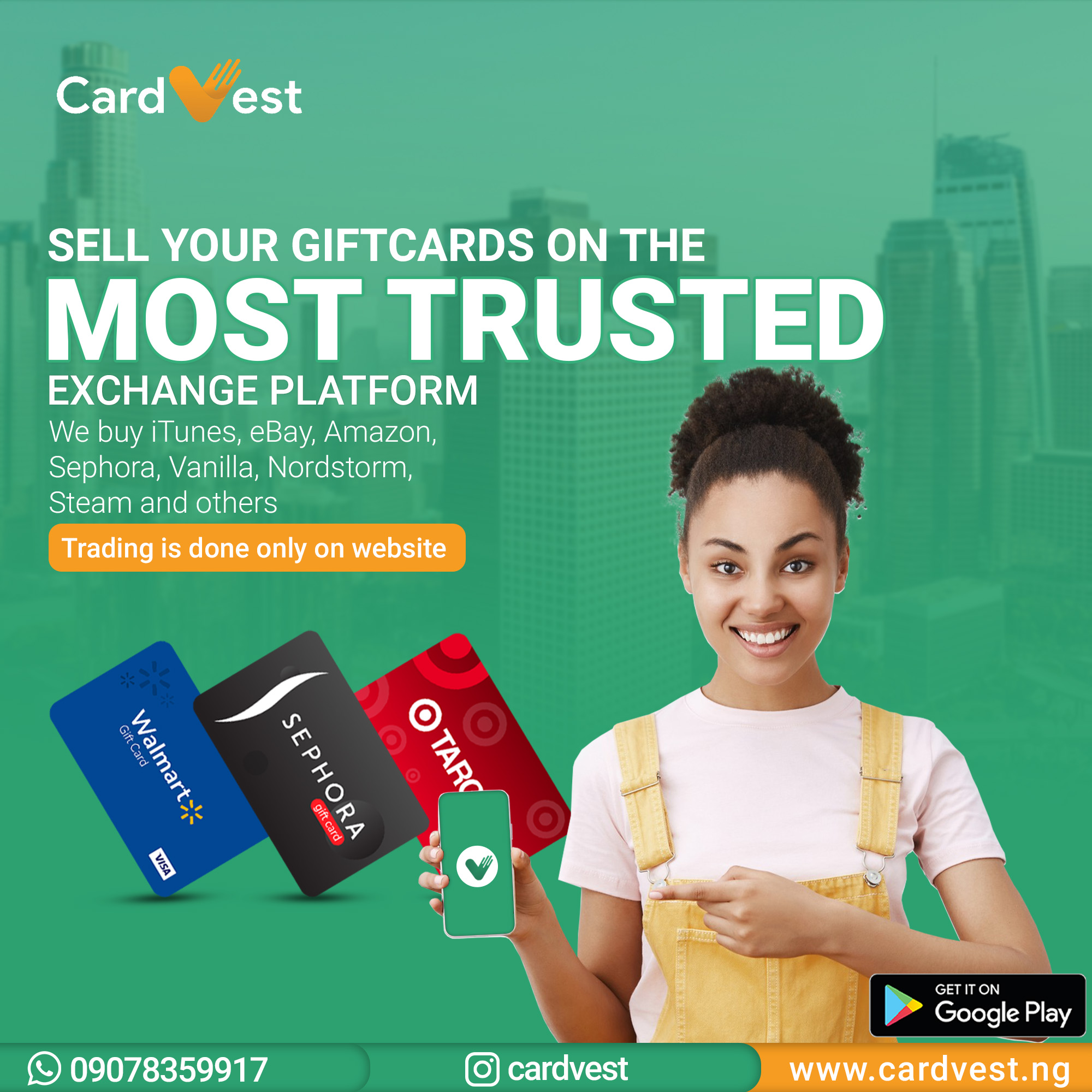 Introducing the Best App to sell Gift Card in Nigeria