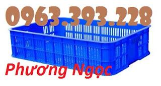 Sọt đựng hàng trong siêu thị, sọt rỗng cao 10, sóng nhựa HS010 9f52b7b09b2f63713a3e