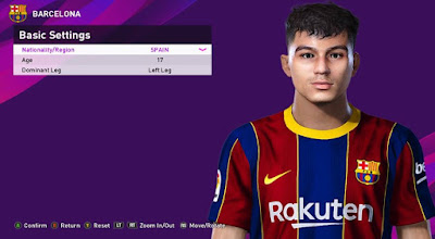 PES 2020 Faces Pedri by Rachmad ABs
