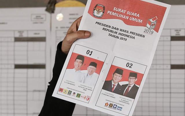 Exit Poll KedaiKOPI: Prabowo-Sandi Unggul Tipis dari Jokowi-Maruf