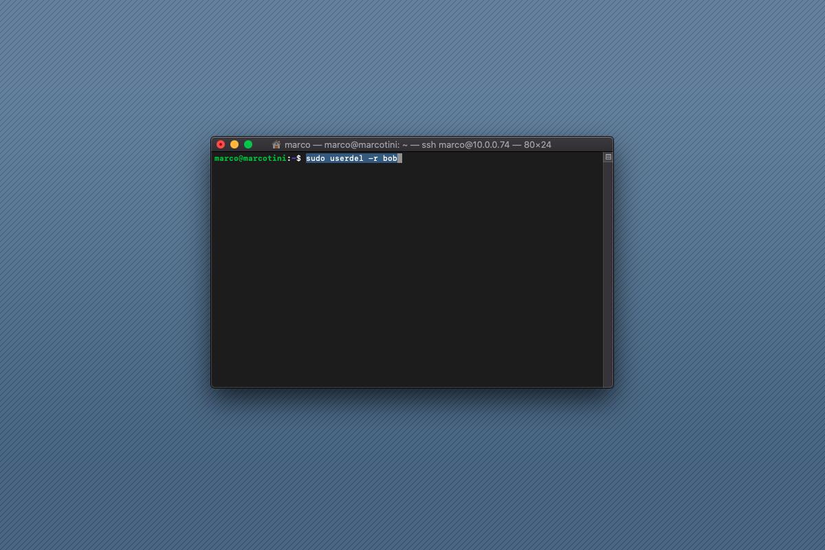 Come rimuovere un utente su Raspberry Pi
