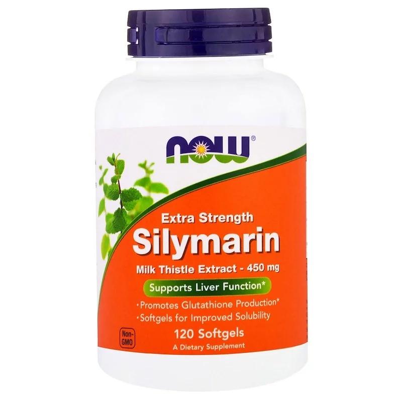 """Now Foods, """"Silymarin"""", сильнодействующий экстракт расторопши, 120 мягких желатиновых капсул с жидкостью"""